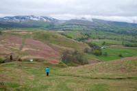 Hiking down High Rigg
