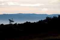 Breaking Dawn over Radio Telescope, from Jasper Ridge