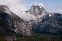 Half Dome and Yosemite Valley, lifting Mist