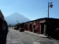 Volcán de Agua from a Street in Antigua