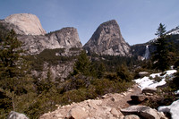 Half Dome, Liberty Cap, & Nevada Falls