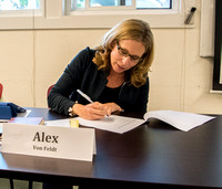 Alex Von Feldt Signs the Agreement