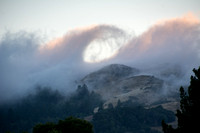 Fog Wave over Windy Hill at Sunset
